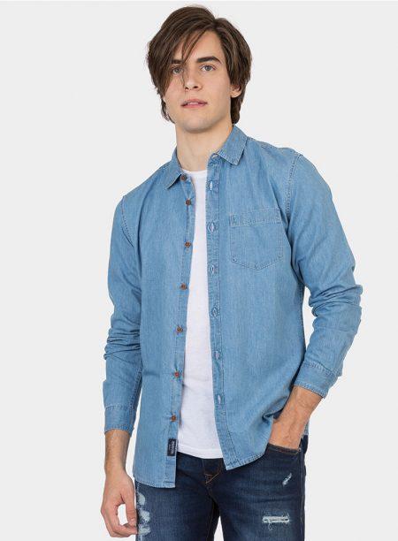 Camisa vaquera clara